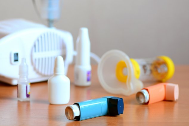 Asthma medication and spacer