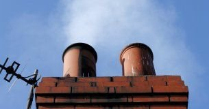 Chimneys leaking white smoke