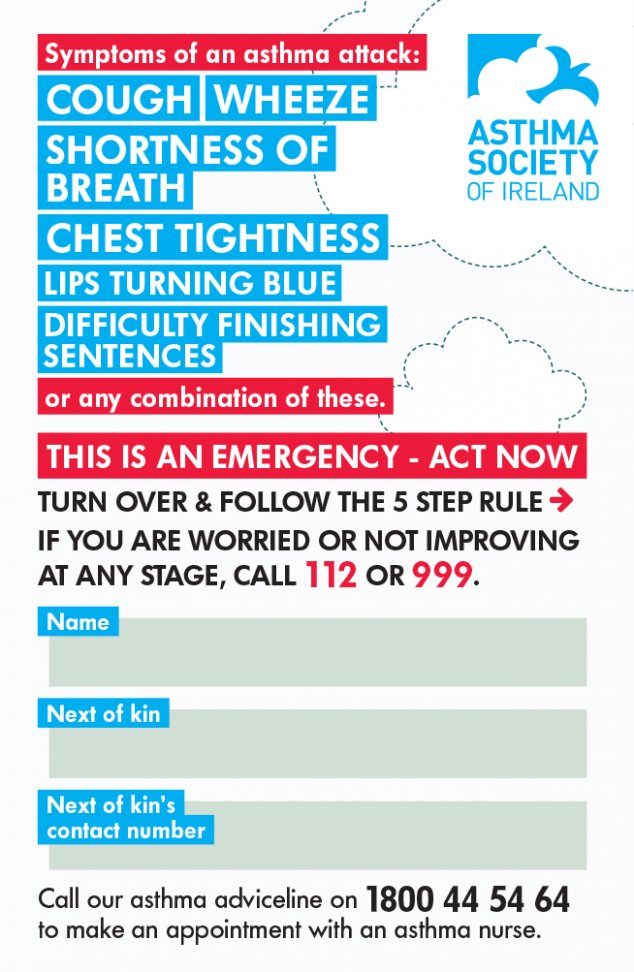 Asthma Attack Card side 1