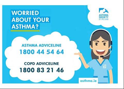 Asthma Adviceline 1800 445464