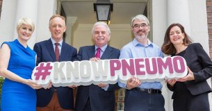 Marty Whelan with Asthma Society CEO, Averil Power, and reps from Age Action, Diabetes Ireland and Croí #KnowPneumo