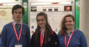 Cork Students with their BT Young Scientist project on solid fuels and air quaity