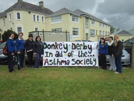 donkey derby fundraiser asthma society