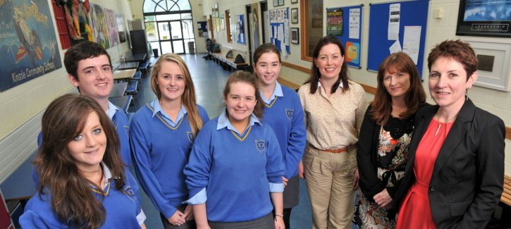 Kinsale Students who took part in the Pilot E-Learning Programme, Martine du Toit, Dyson Marketing Manager, Sharon Cosgrove, CEO of the Asthma Society and Mary Hughes, Research & Education Officer with the Asthma Society of Ireland