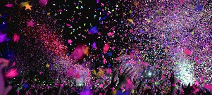Festival People dancing