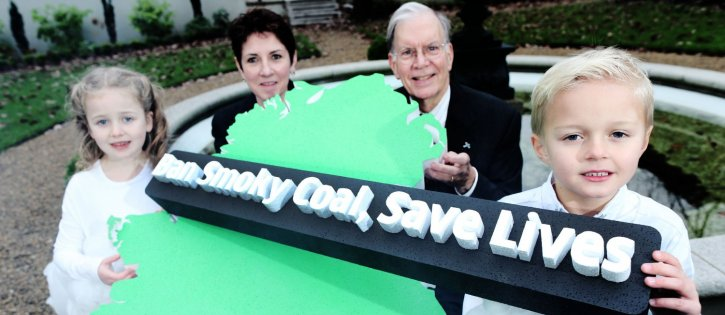 Dr. Alan Lockwood and Sharon Cosgrove, Asthma Society of Ireland at Smoky Coal Event in Mansion House on 3rd December