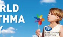 World Asthma Day Girl blowing Pinwheel